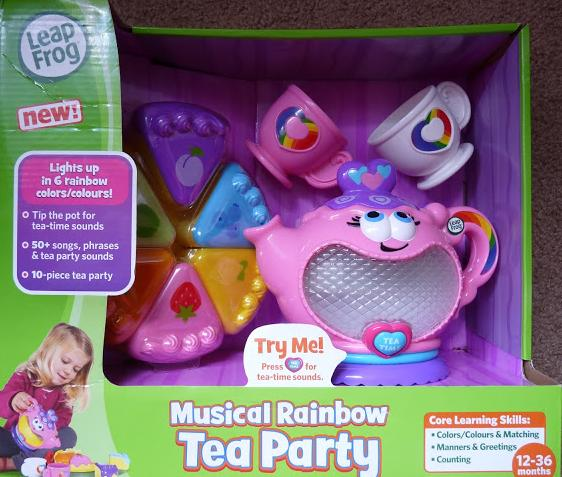 Yum Yum Tea- served by my Little daughter – Leap frog Musical Rainbow Tea Party Review