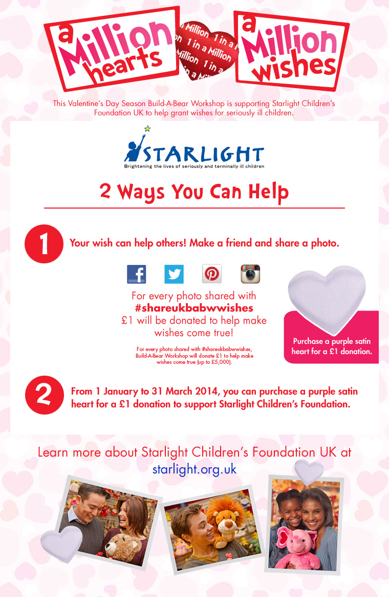 A child's smile is worth more than anything – Starlight Children's foundation with Build-a-Bear Workshop