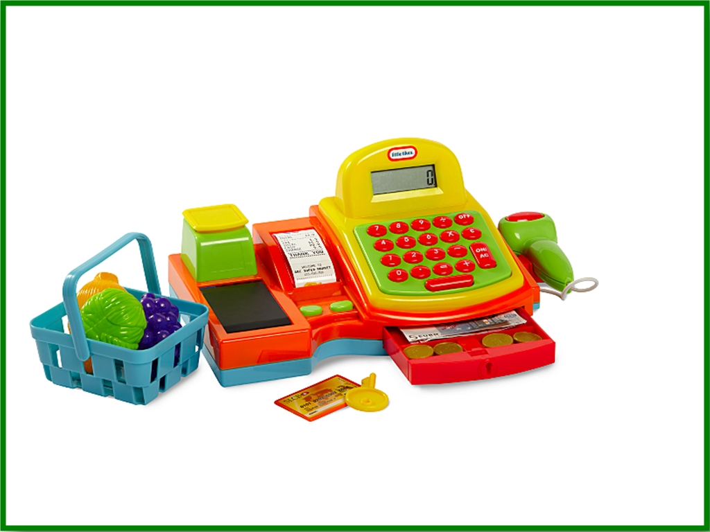 We are busy shopping with Little Tikes Cash Register from Asda