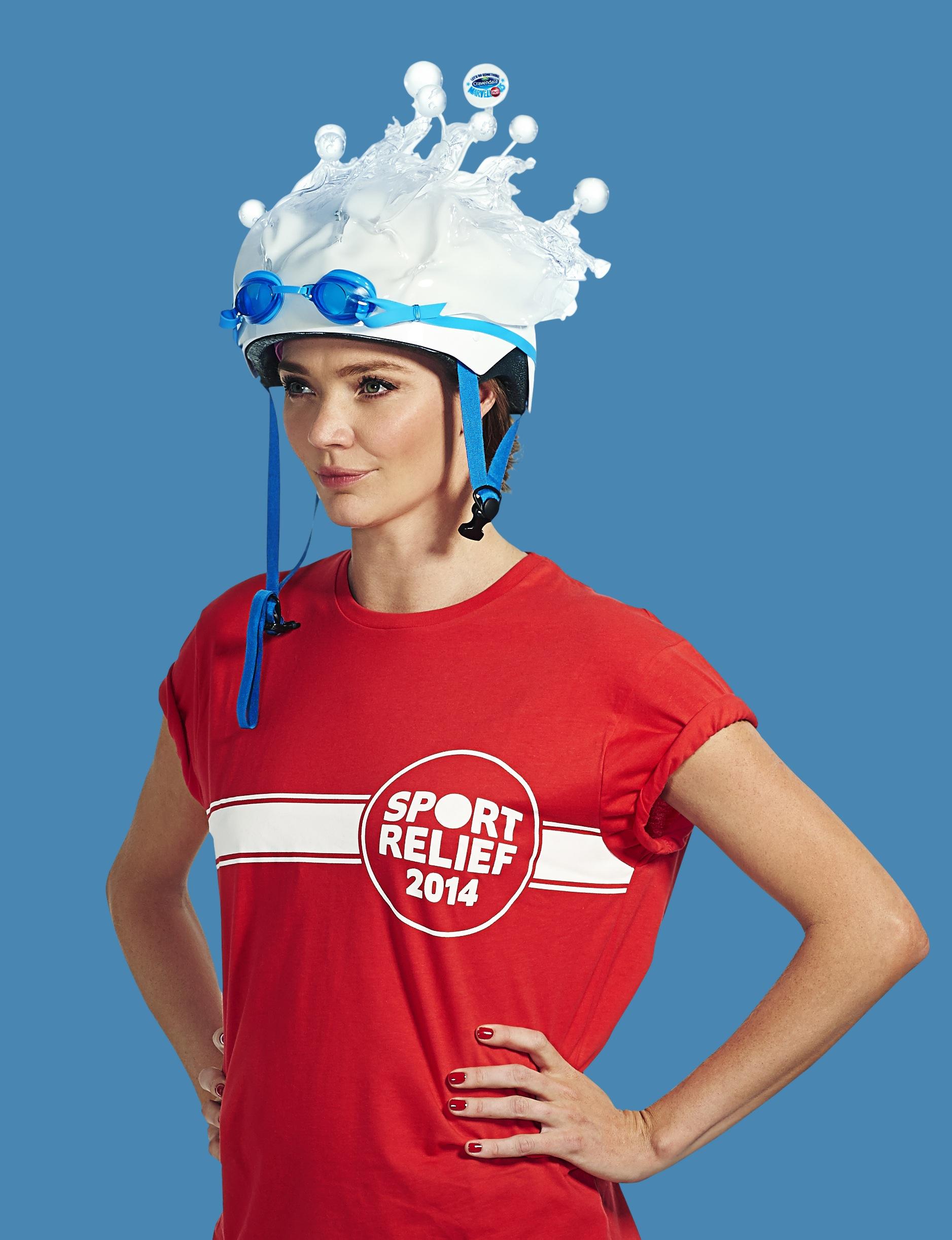 Marvellous milliner creates high fashion cycle helmets