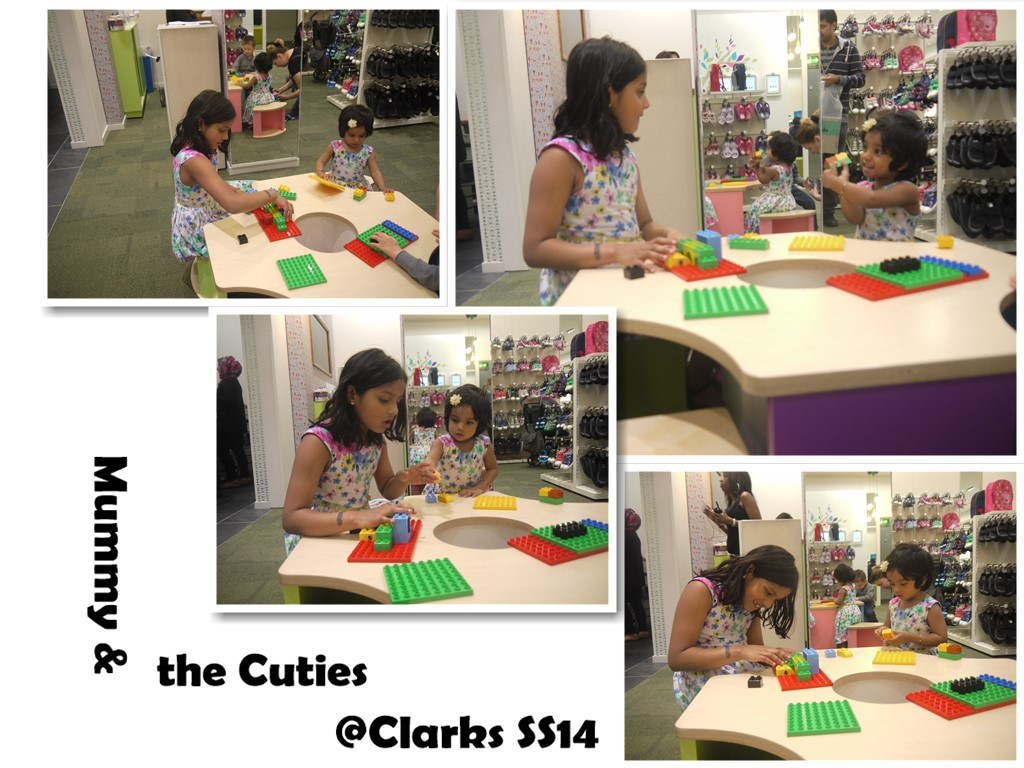 Mummy and the cuties visited Clarks store at Westfield, White City
