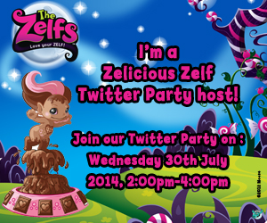 Come and join us on 30th July between 2 – 4pm for a Zelicious Zelfs twitter party