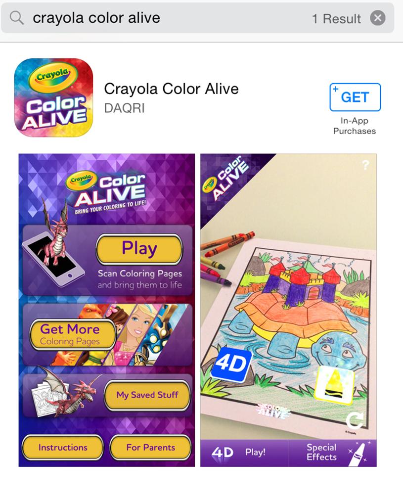 Crayola Colour alive App