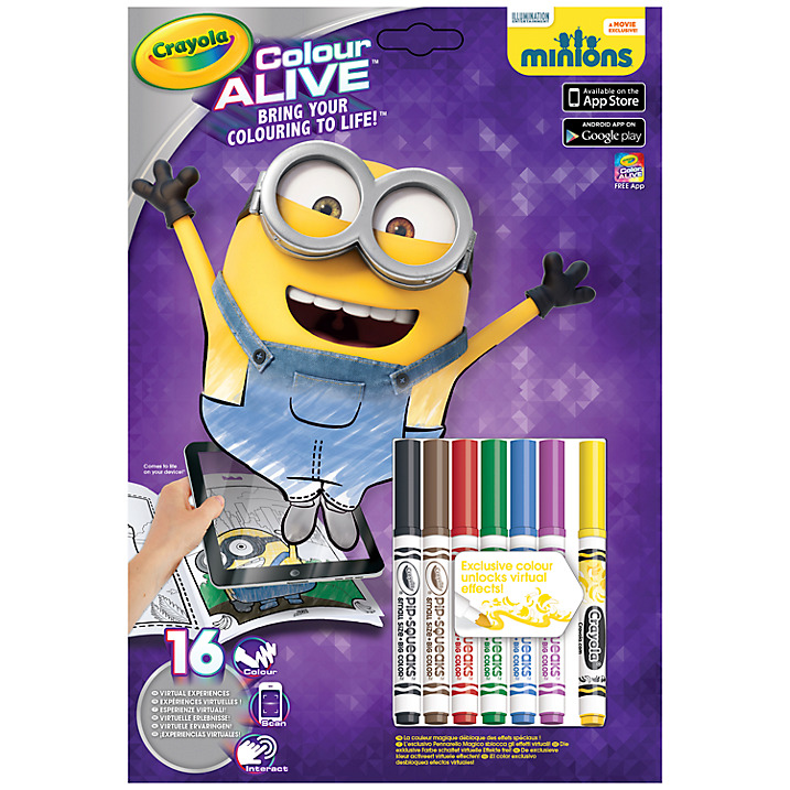 Review -Crayola  Minions colour alive set