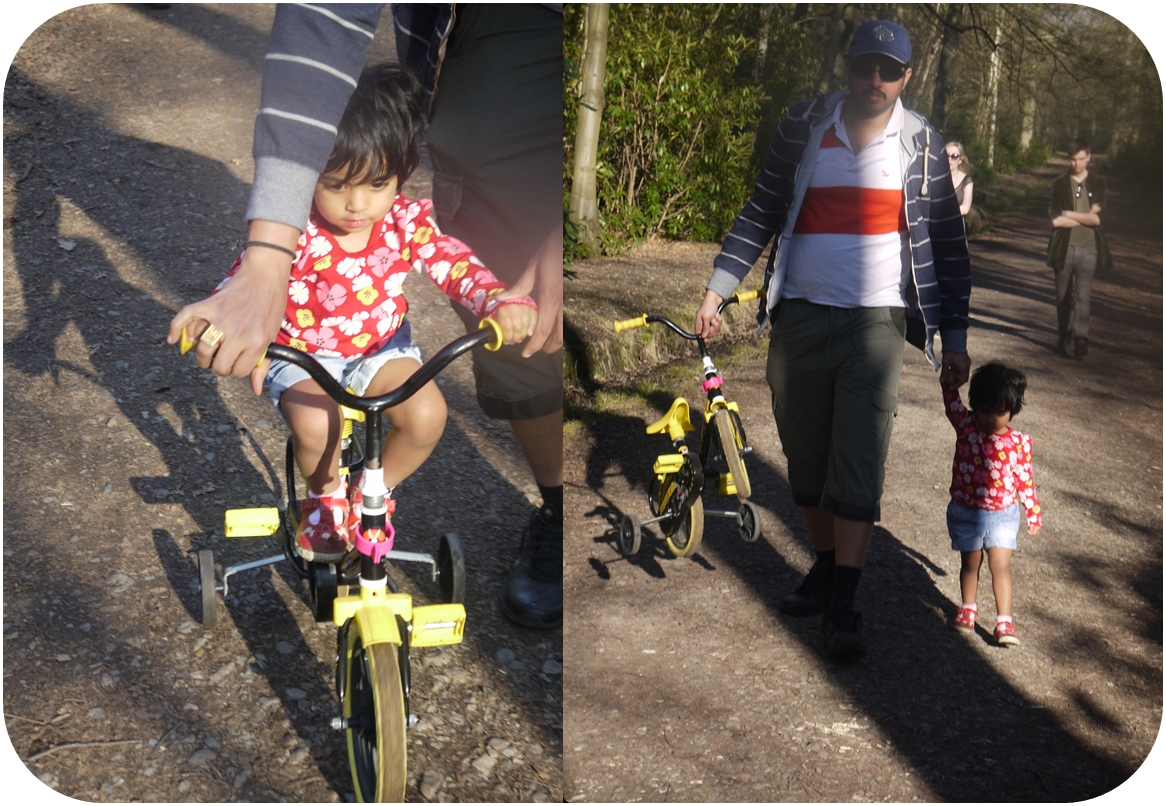Mridinis First Bike Ride - 09 03 2014