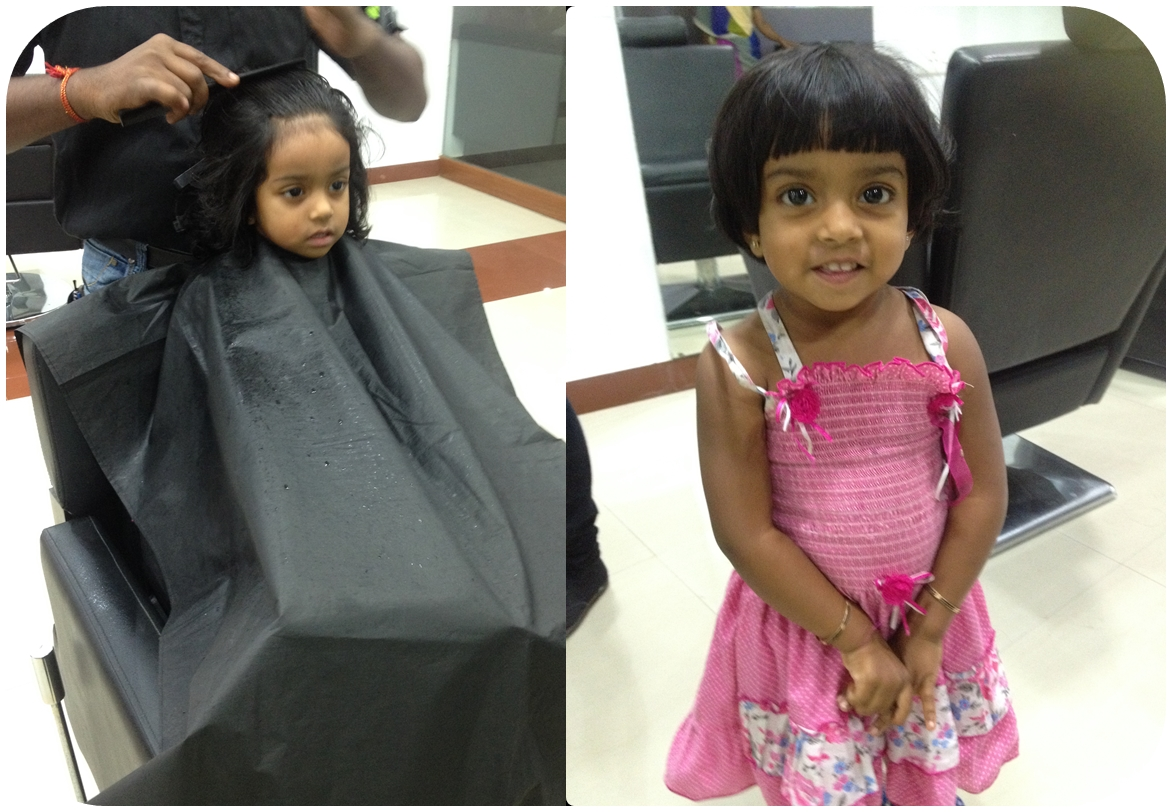 Mridinis First Hair cut - 31 08 2014