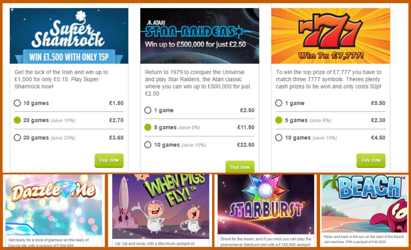 Scratchcard and Games