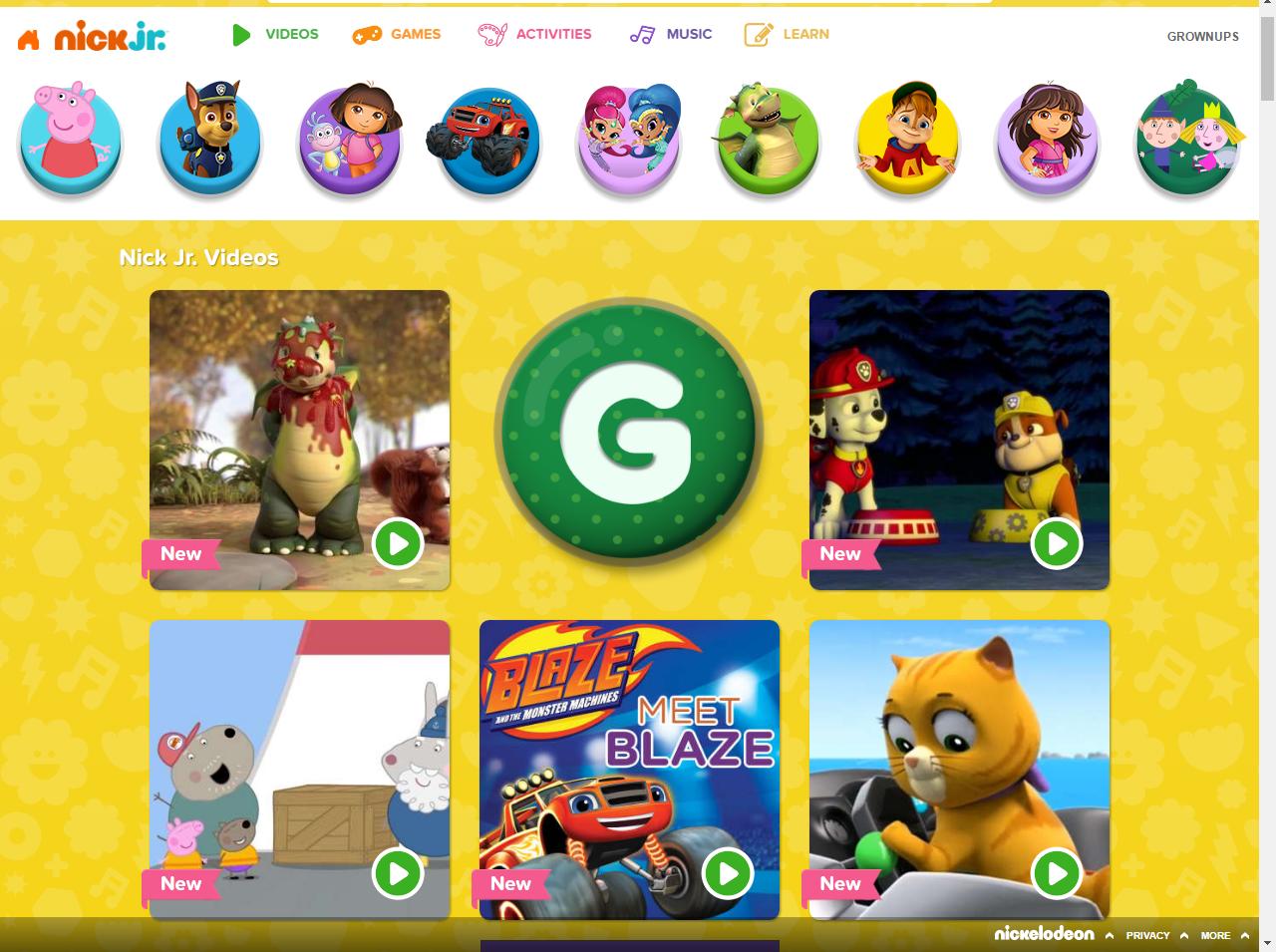 Games free online games at nickcom preschool games activities nick jr