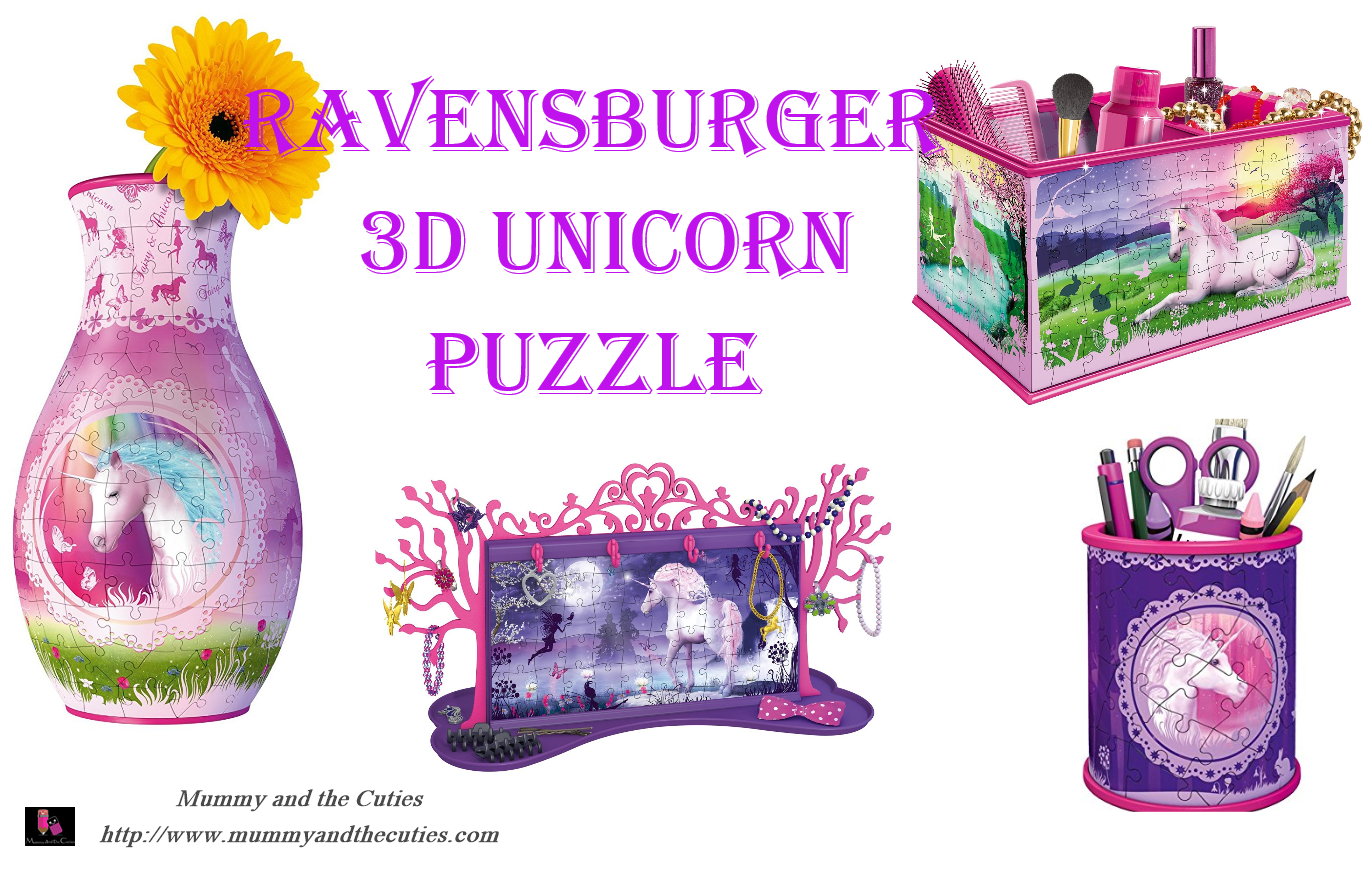 Do you love 3D puzzles!? Ravensburger Unicorn 3D puzzles are very creative!