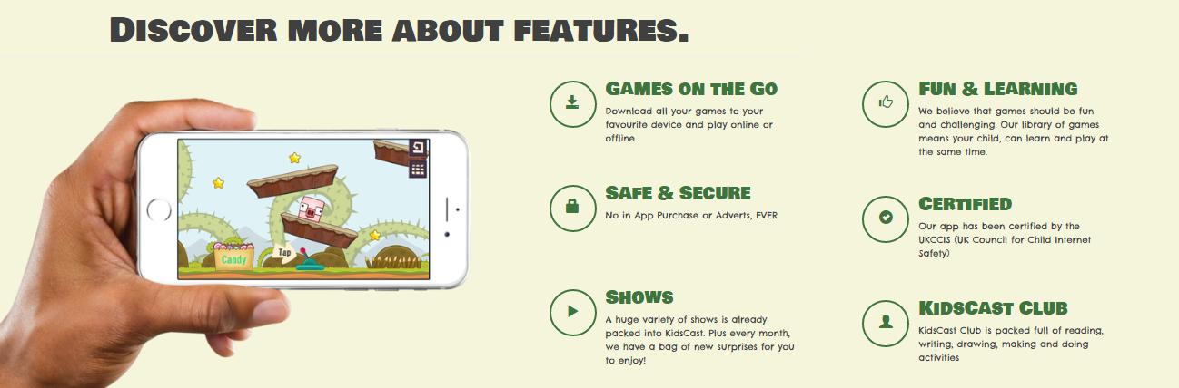 kidscast-features