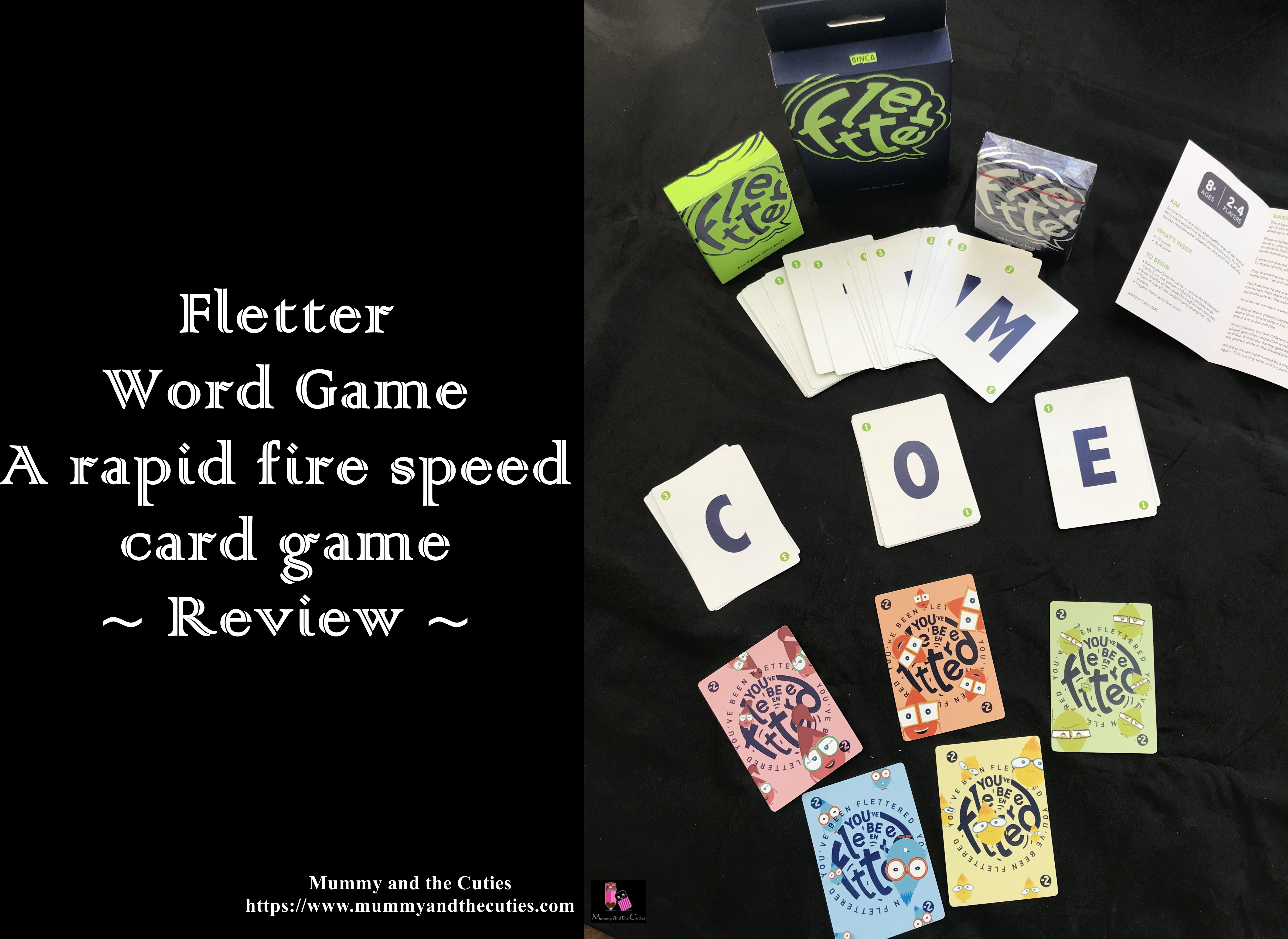Fletter Word Game A Rapid Fire Speed Card Game Review Mummy And